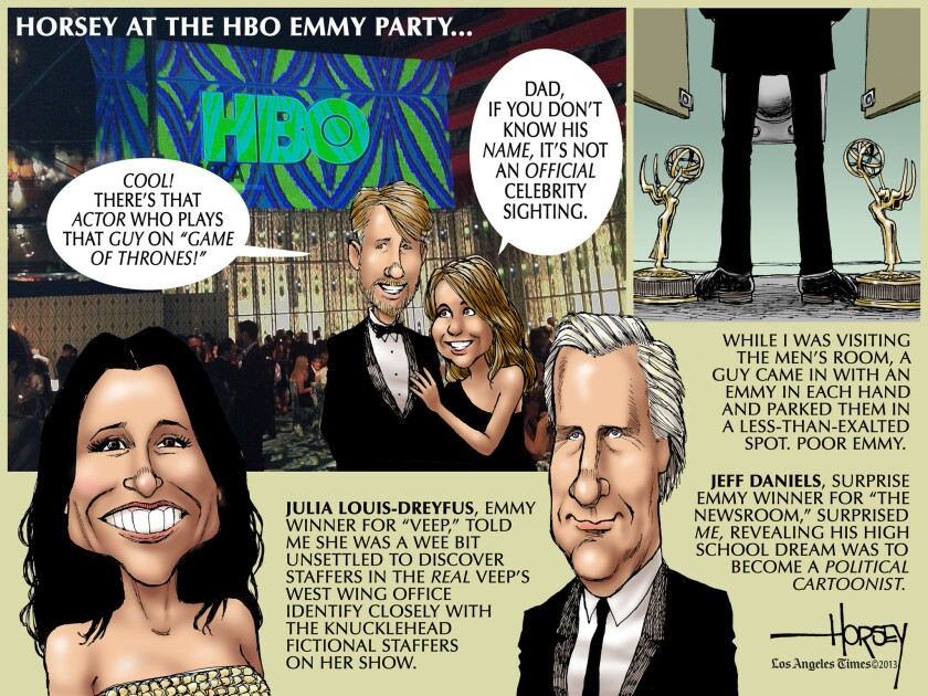 HBO's Emmy party was the place to be on Sunday night -- for the winners and the also-rans.