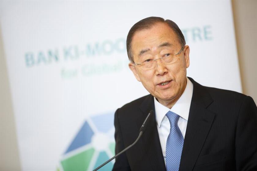 El ex secretario general de las Naciones Unidas Ban Ki-moon. EFE/Archivo