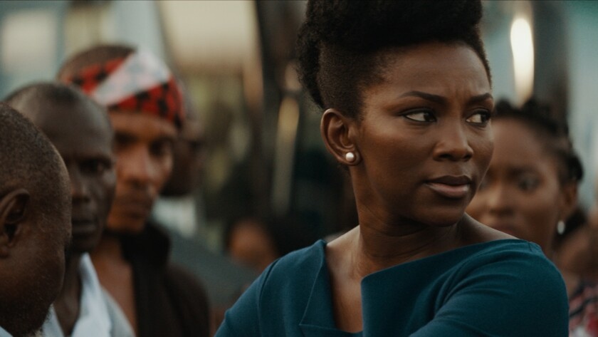 "Genevieve Nnaji in the Nigerian film ""Lionheart."""