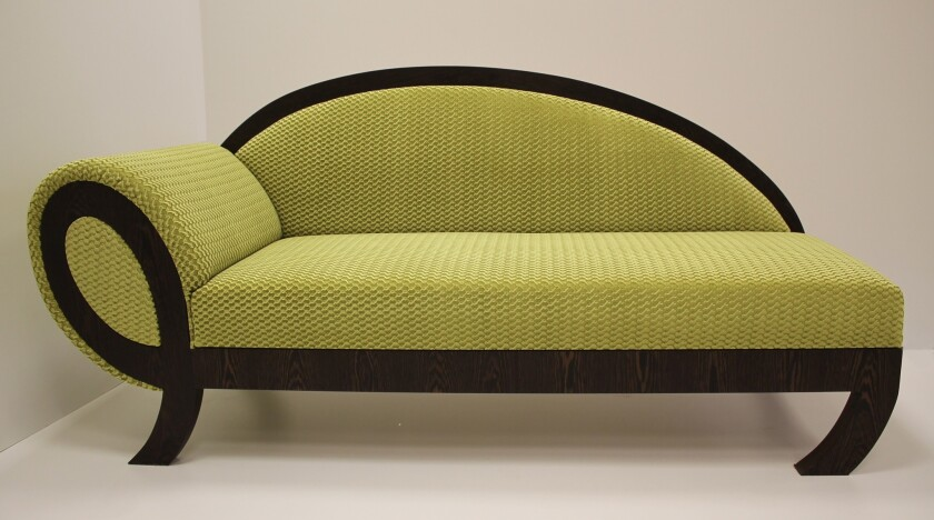 Jan Pakull Interiors will be displaying its Tischla Recamiere lime sofa at the Dwell on Design show at the L.A. Convention Center, June 20-22.