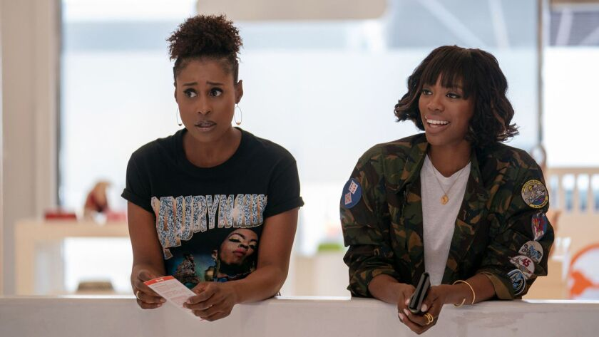 """Issa Rae (left) and Yvonne Orji star in the HBO comedy """"Insecure."""" Rae is the show's co-creator and co-executive producer."""