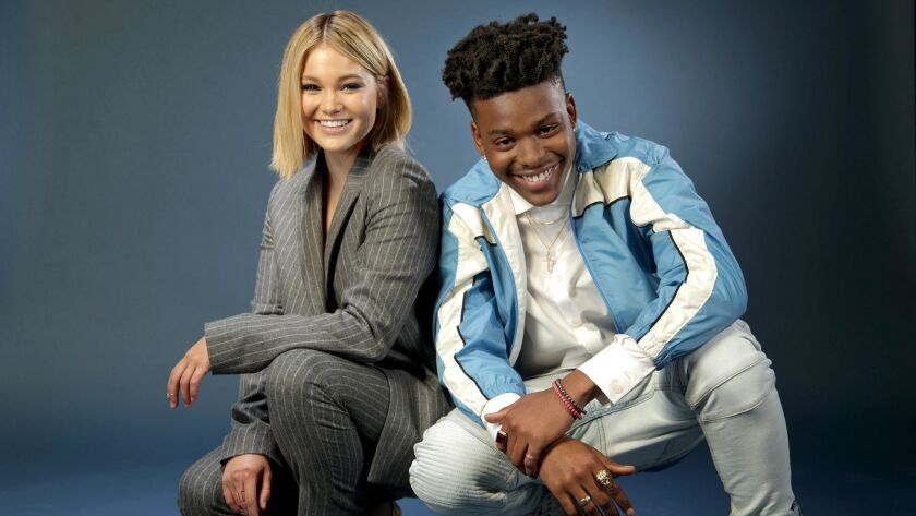 LOS ANGELES, CA., MAY 21, 2018--Actors Olivia Holt and Aubrey Joseph are the two leads for the upcom