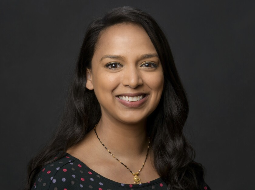 A headshot of Versha Sharma, the newly named editor in chief of Teen Vogue.