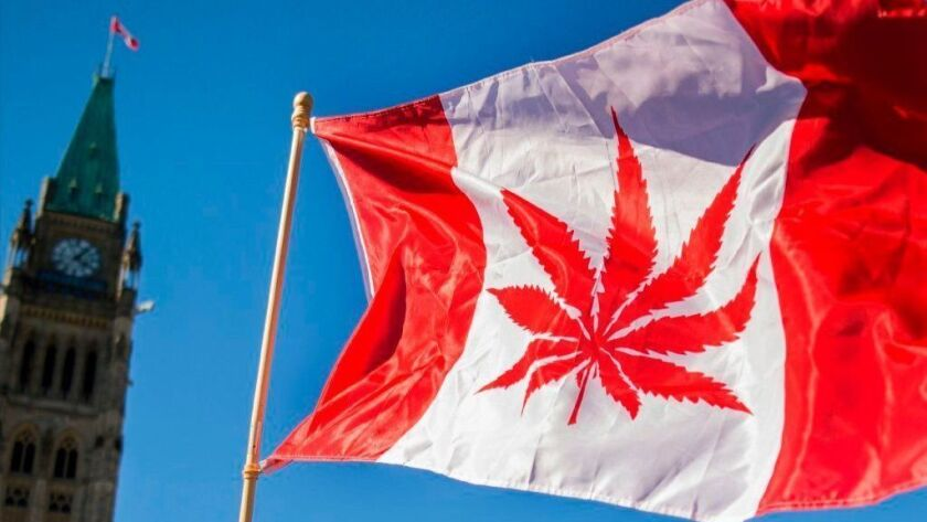 A flag with a marijuana leaf is flown April 20, 2016, on Parliament Hill in Ottawa, Canada. On Oct. 17, 2018, Canada became the largest Western nation to legalize and regulate pot's sale and recreational use.