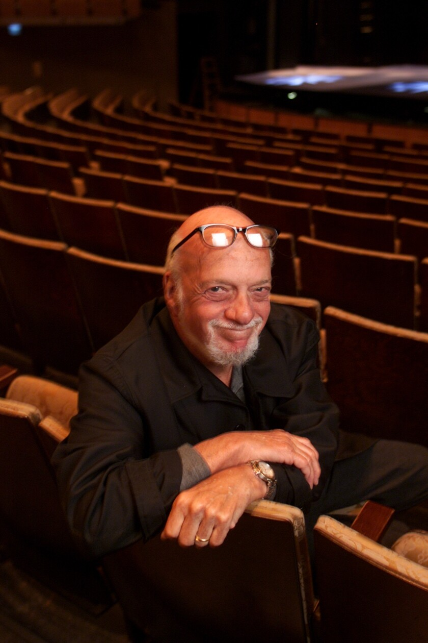 Legendary director Hal Prince in L.A.'s Ahmanson Theater.