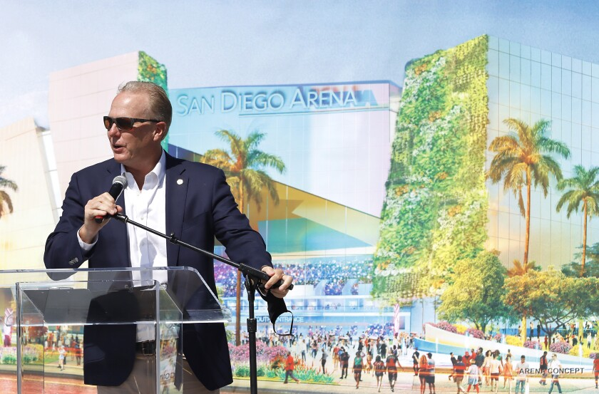 Former Mayor Kevin Faulconer started a project to replace the old Sports Arena in the Midway District