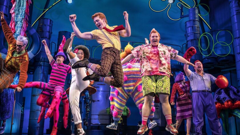 """SpongeBob SquarePants"" tied with ""Mean Girls"" for the most Tony Award nominations on Tuesday."