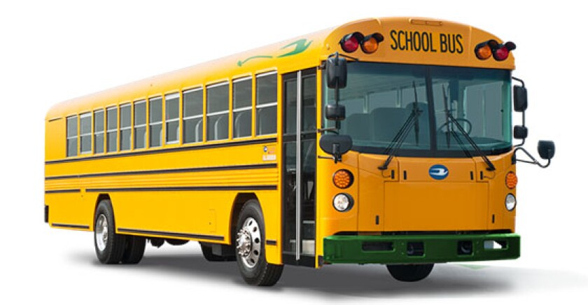 The Ramona school district plans to use Volkswagen Mitigation Trust Fund money to buy eight electric buses for $3.2 million.
