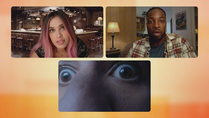 """Clockwise from top left, Otmara Marrero, Preacher Lawson and Parvesh Cheena in """"Connecting..."""" on NBC."""