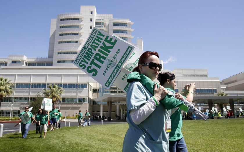 UC medical center strike: Most union members reported for work
