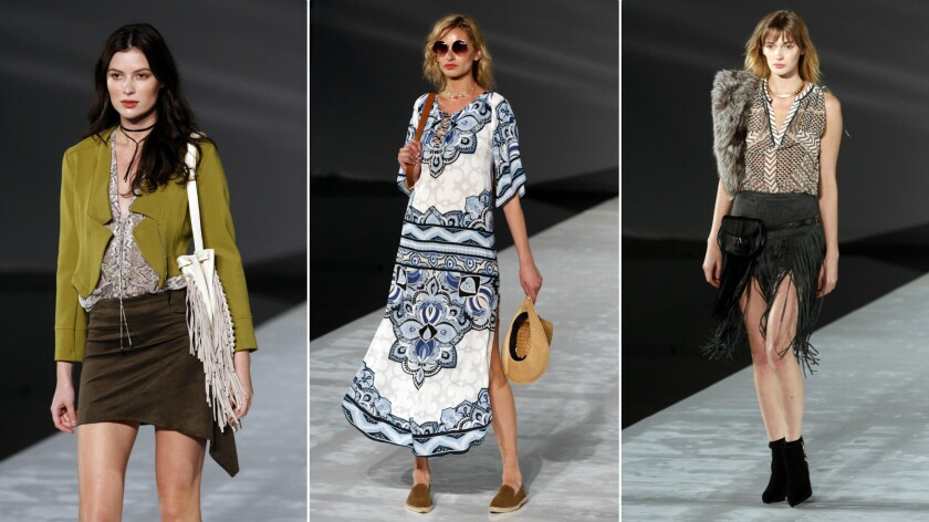 The True Rock Star At Los Angeles Fashion Week Hale Bob S Coachella Inspired Collection Los Angeles Times