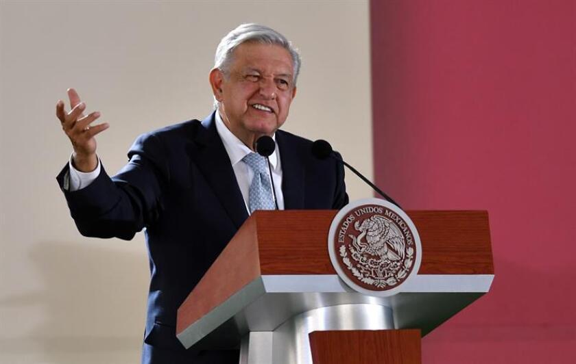 El presidente de México, Andrés Manuel López Obrador, durante su conferencia matutina en Ciudad de México. EFE/Archivo
