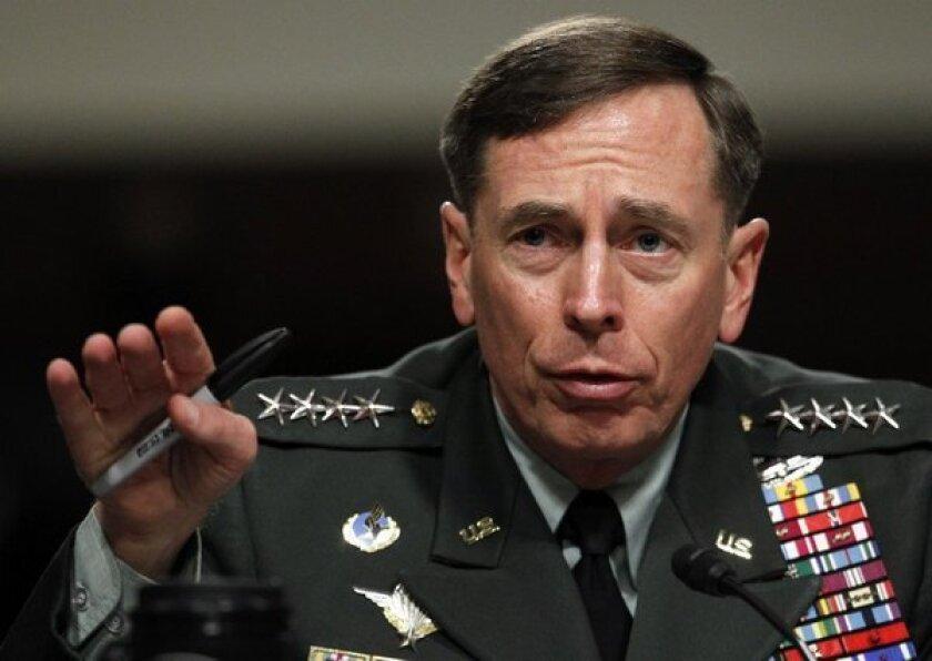 CIA chief David H. Petraeus resigned Friday.