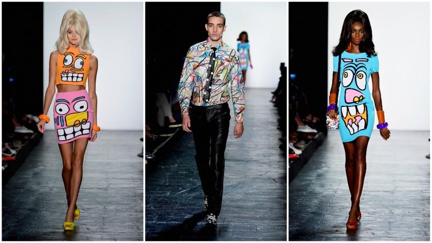 Jeremy Scott Spring 2016 during New York Fashion Week.