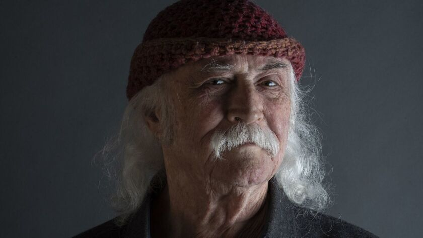 SANTA YNEZ, CALIF. -- WEDNESDAY, JUNE 26, 2019: Musician David Crosby sits for portraits at his hom