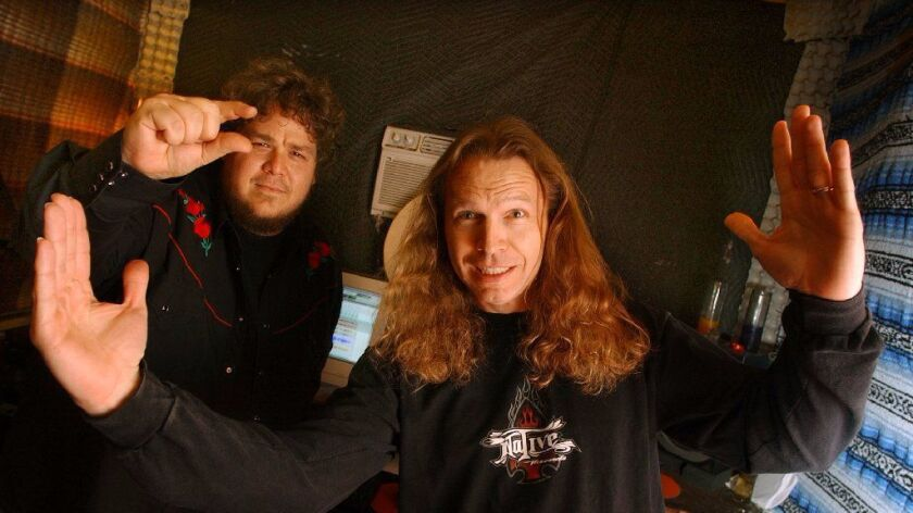 """""""Jeff is one of those rare natural musicians,"""" says longtime collaborator Calman Hart (right), shown"""
