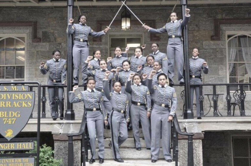 Female cadets at West Point were accused of violating academy rules by making a political statement with a photo of them raising their fists. West Point officials say they are investigating the photo.