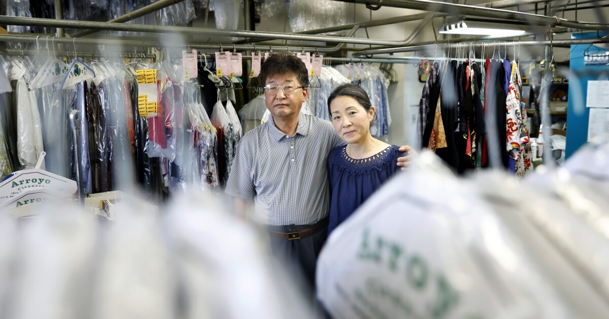 Long a path to success for Korean immigrants, dry cleaners struggle in the pandemic