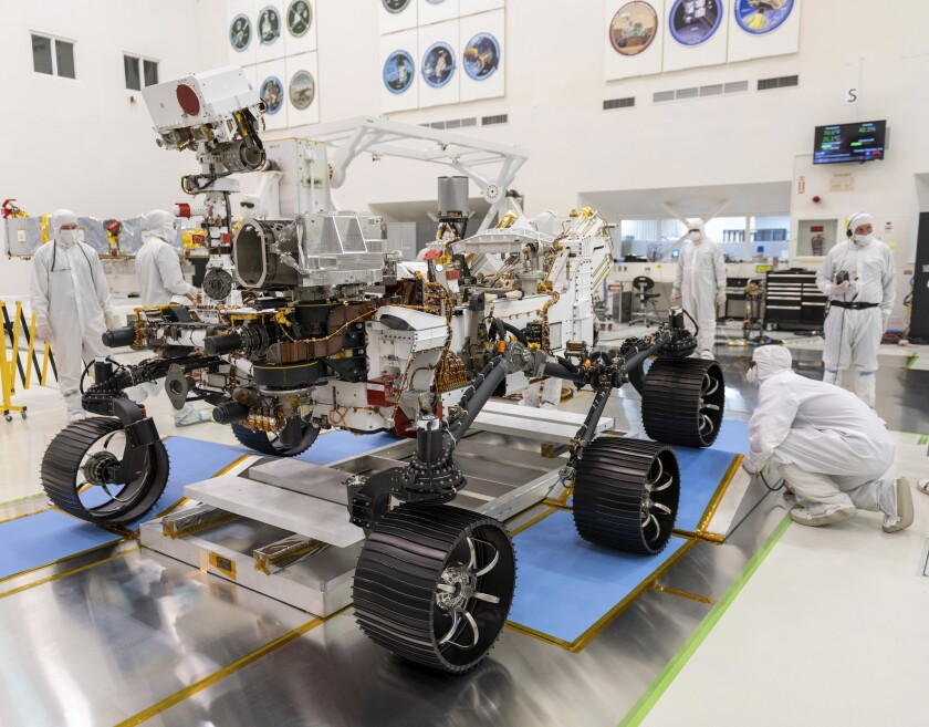 Mars rover drive test
