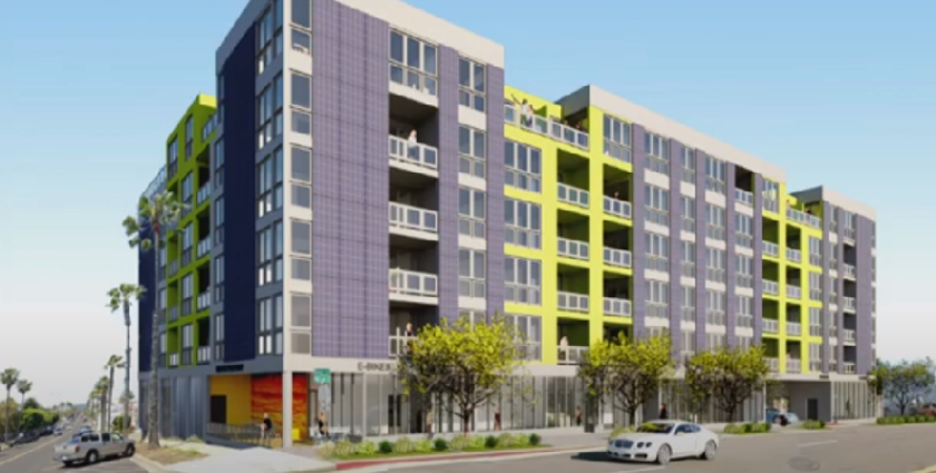The six-story Sunsets building, with 76 apartments and ground-floor retail, has been approved for construction at the corner of North Horne Street and Pier View Way in Oceanside.