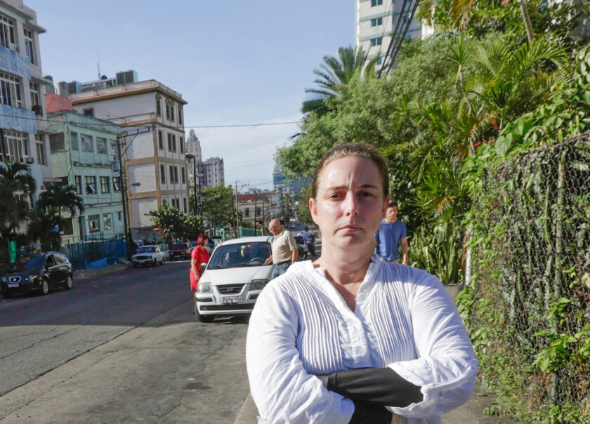 """Artist Tania Bruguera, in Havana, insists that her foiled performance was not a failure. """"It was a success,"""" she said. """"It shows the moment we are at politically."""""""