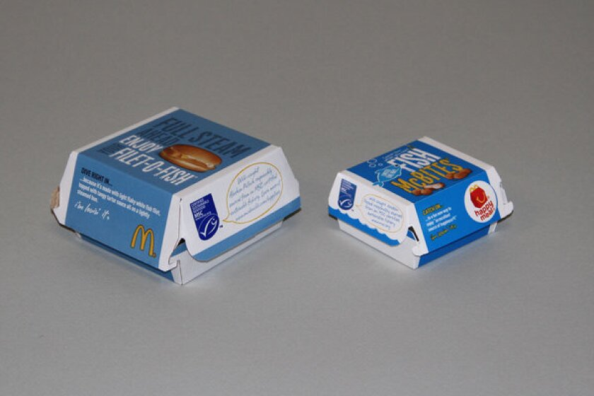McDonald's fast-food fish gets Eco-label as sustainable