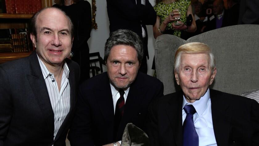 Philippe Dauman, Brad Grey and Sumner Redstone