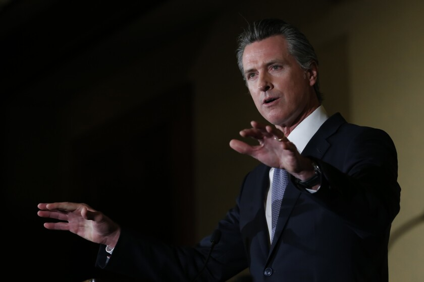 Gov. Gavin Newsom held a news conference on the state's response to coronavirus.