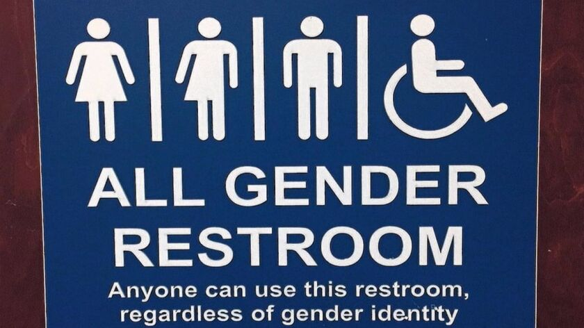 Signage for one of the five gender-neutral restrooms at The Bishop's School