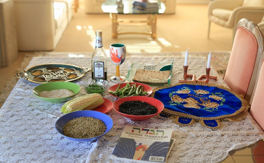 """SAN DIEGO, CA-APRIL 21, 2016:   """"Kitniyot,"""" are foods that include corn, beans and rice. These foods were prohibited during Passover for centuries in the Ashkinazi Jewish culture but the prohibition was recently lifted.   (Misael Virgen / San Diego Union-Tribune)"""