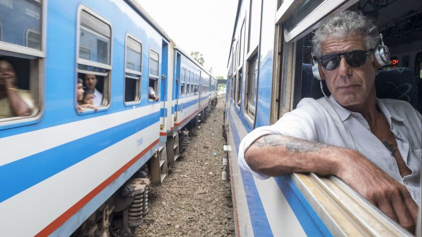 May 25, 2017: Anthony Bourdain rides a train from Colombo, Sri Lanka north to Jaffna, Sri Lanka on M