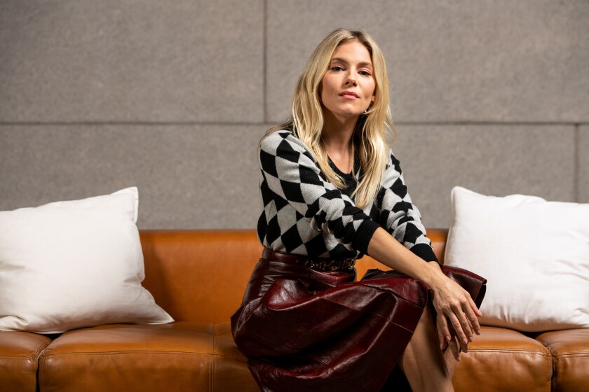 "LOS ANGELES, CALIF. - NOVEMBER 05: Actor Sienna Miller, from the film, ""American Woman,"" poses for a portrait at NeueHouse Hollywood on Tuesday, Nov. 5, 2019 in Los Angeles, Calif. (Kent Nishimura / Los Angeles Times)"