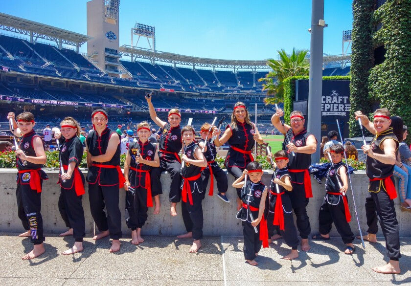 Shaolin Kempo performed at Petco Park for Martial Arts Day