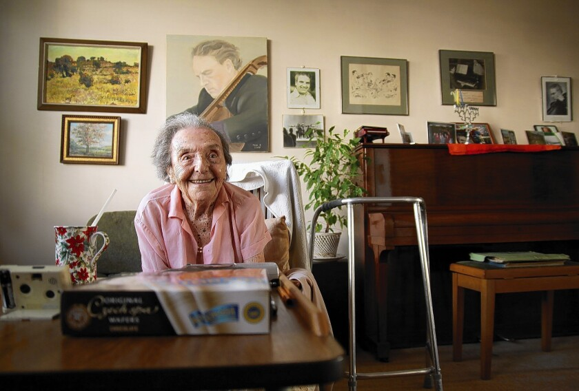 Alice Herz-Sommer survived the Theresienstadt concentration camp and lived in London. She discussed music with love and animation but spoke reluctantly about the horrors of the Holocaust.