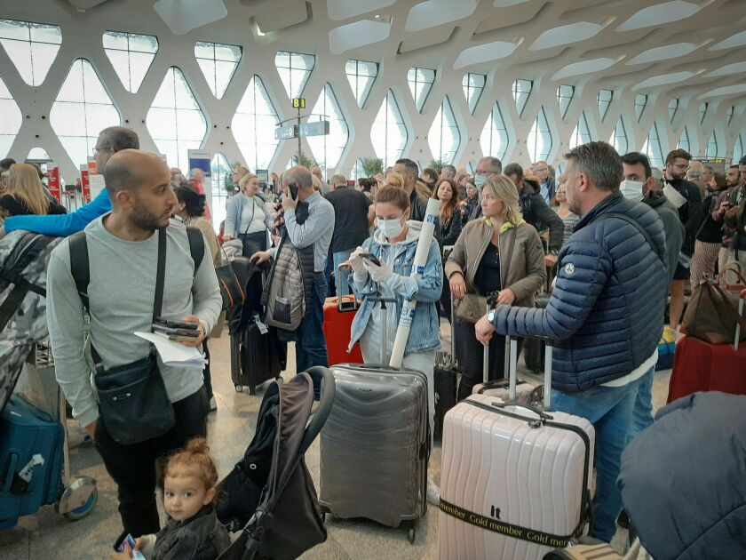 The coronavirus prompted a suspension of all flights from countries including Morocco.