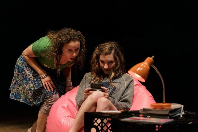 "Cristina Gerla (left) and Katie Sapper in La Jolla Playhouse's ""Kingdom City."""