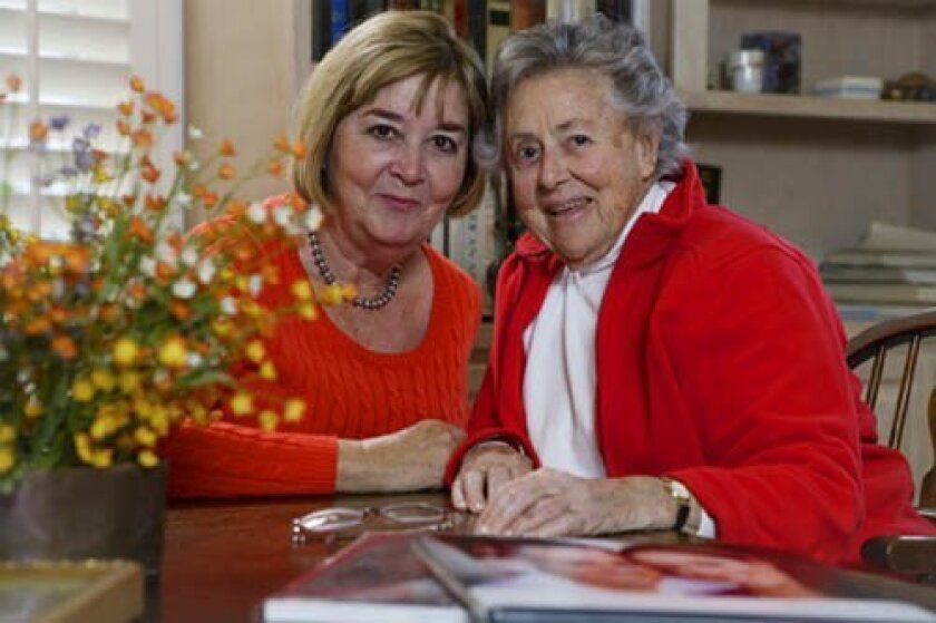Seniors Helping Seniors caregiver and client.