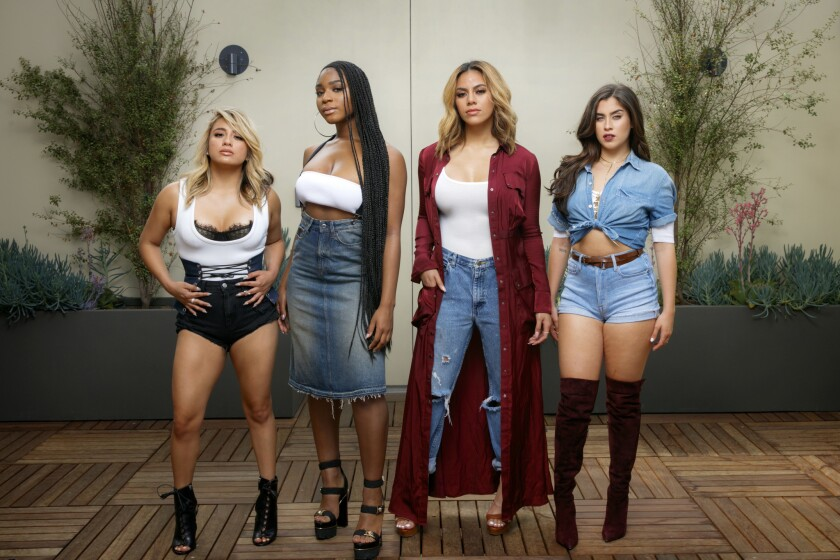 Fifth Harmony, composed of Ally Brooke Hernandez, Normani Kordei, Dinah Jane Hansen and Lauren Jauregui, photographed at Epic Records headquarters on the Sony lot in Culver City.