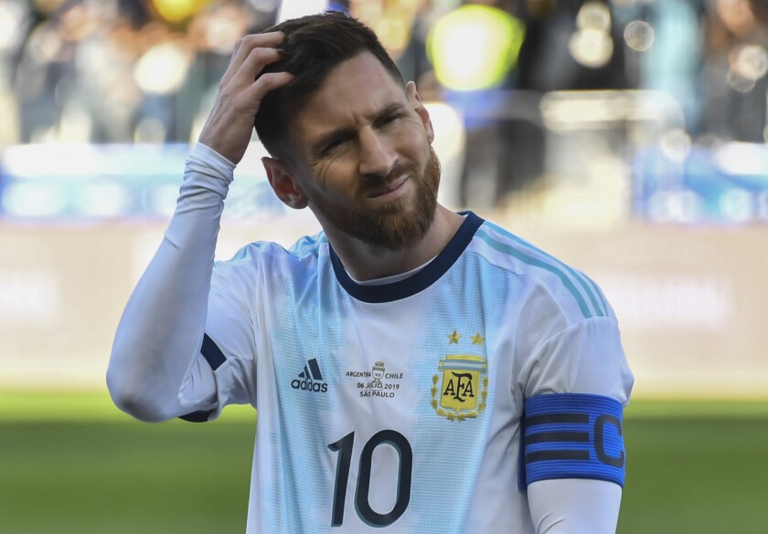 separation shoes cb732 0536b Argentina plays at the L.A. Coliseum without Lionel Messi ...
