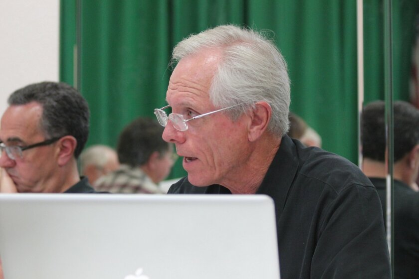 La Jolla Community Planning Association (CPA) trustee Phil Merten is chair of an ad hoc committee formed to discuss rules governing trustees who represent clients on projects being reviewed by the CPA. Pat Sherman photos