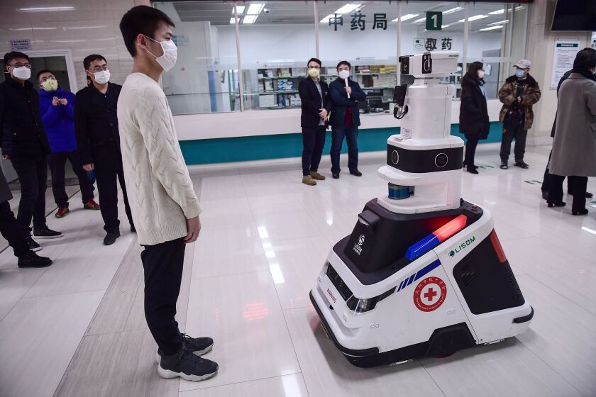 A robot in Shenyang, China.