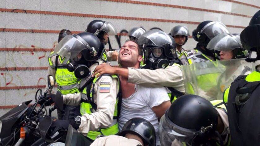 epa05955438 A handout picture provided by the Voluntad Popular Party shows opposition leader Sergio