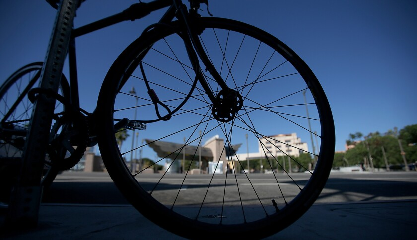 There's no law in California that says bike riders have a right to free air at gas stations.