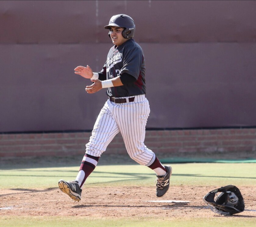 Sebastien Sarabia of Simi Valley had a .588 batting average in nine games before the season was suspended because of the coronavirus.