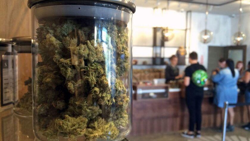 Legal marijuana sales.