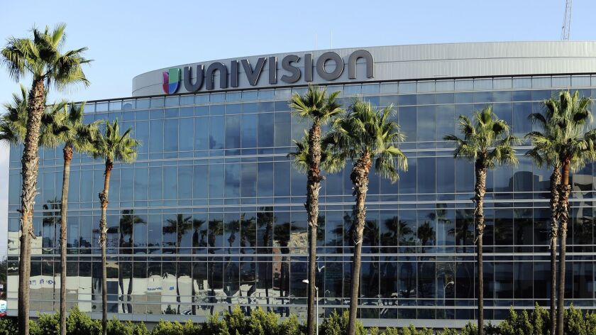 Univision Communications' offices in Los Angeles were sold to raise money to pay down debt.