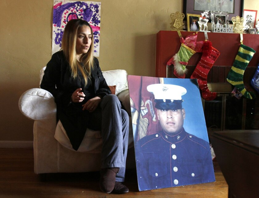 Icela Peralta Donald, sister of Marine Sgt. Rafael Peralta, is still hopeful that her brother will receive the Medal of Honor for his actions in Fallujah, Iraq.  There is already a Arleigh-Burke class guided missle destroyer that will be named the USS Rafael Peralta.  John Gastaldo/U-T San Diego