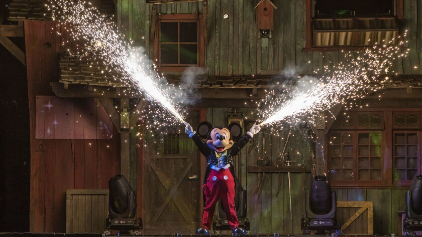 "The updated ""Fantasmic"" nighttime spectacular hews closely to the original story line."