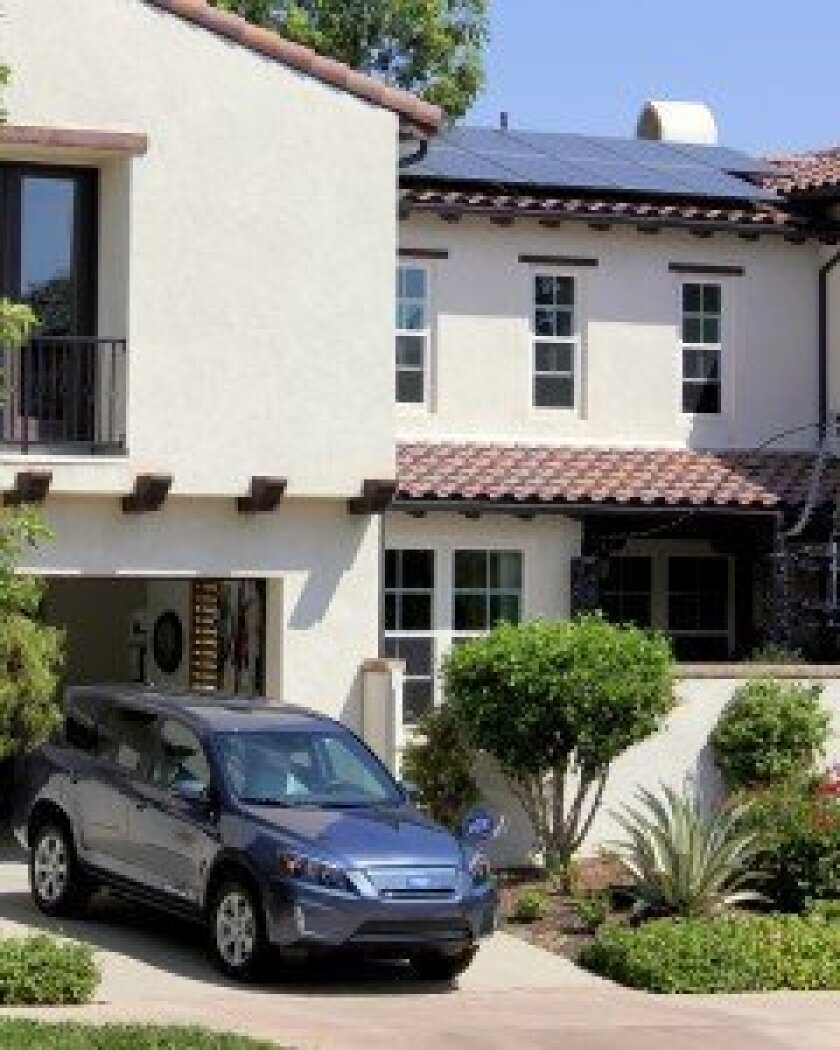 The energy-savvy couple owning this Del Sur home earned $16,131 in incentives and is saving 124% monthly by powering their home & electric vehicle (EV) with solar.