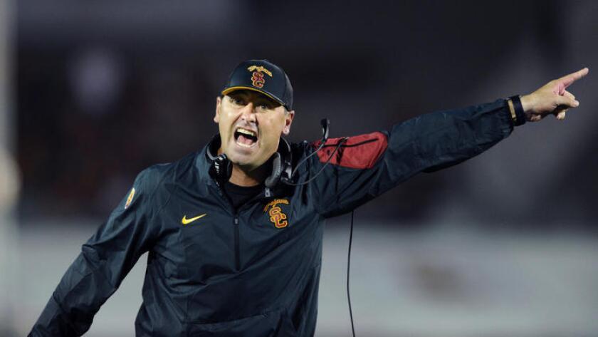 USC Coach Steve Sarkisian